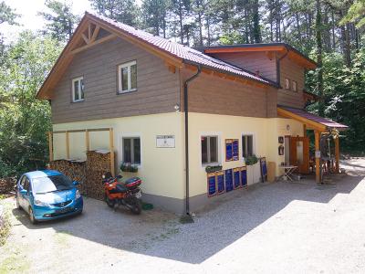 Eisensteinhöhle melletti gerendaház